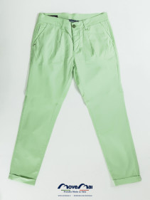 Movemai | Pantalone da uomo estate - vita bassa in Cotone Rasatello | Spring-Summer 2013