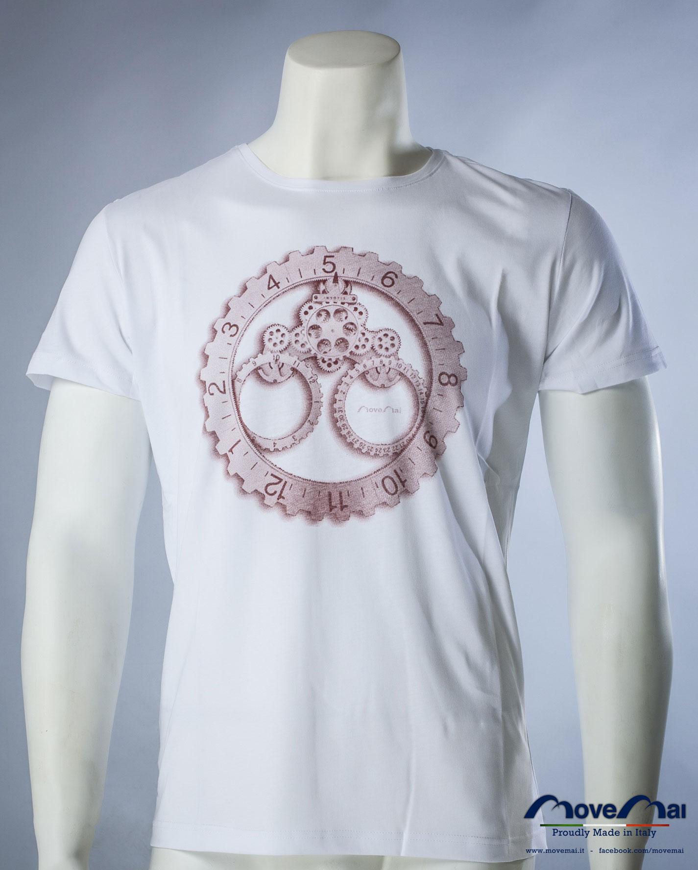 Movemai | T-Shirt da uomo girocollo a maniche corte, sfondo bianco con stampa nella parte anteriore | Spring-Summer_S101_02